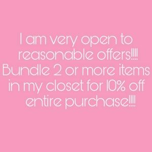 Other - Reasonable offers only welcome